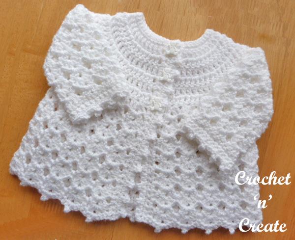 Free baby crochet pattern-Picot Edge Coat