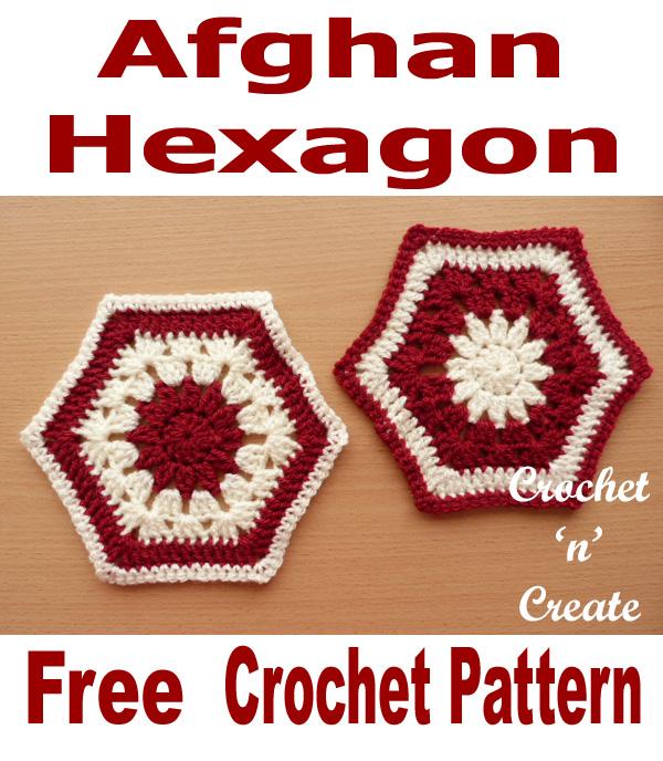 Free crochet pattern afghan hexagon