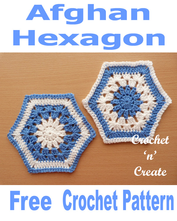 Free crochet pattern afghan hexagon UK