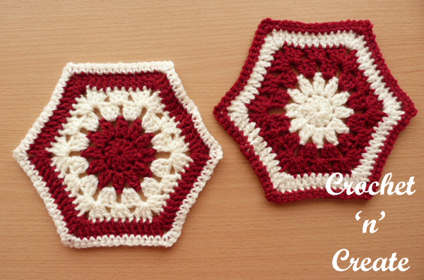 Free crochet pattern afghan hexagon