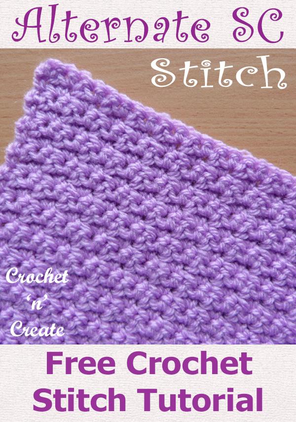 Free crochet tutorial-alternate single crochet