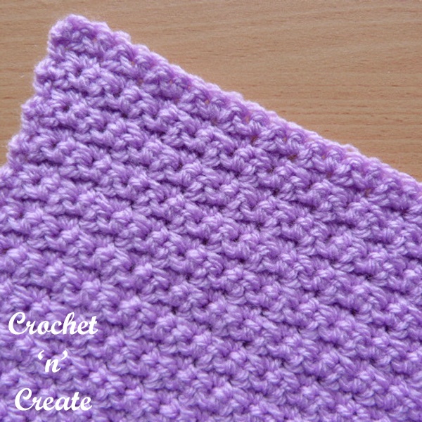 Free crochet stitch Tutorial-alternate single crochet
