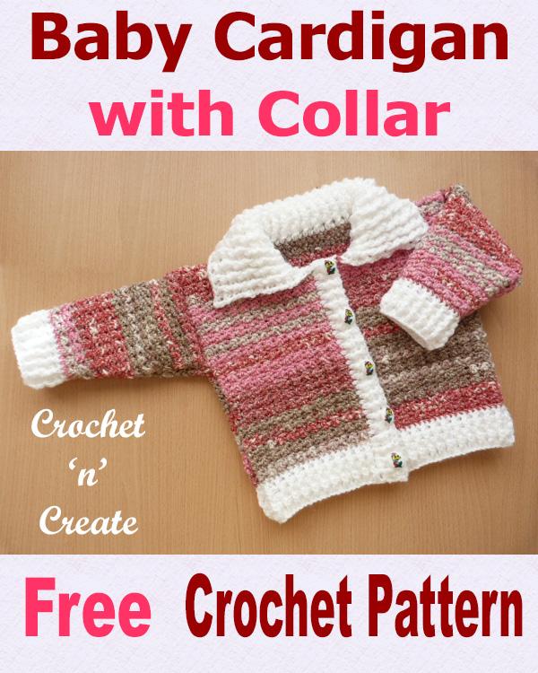 b28da5fa98d Ribbed Baby Cardigan Free Crochet Pattern - Crochet 'n' Create