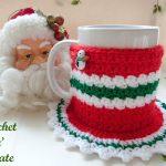 christmas coaster mug cosy