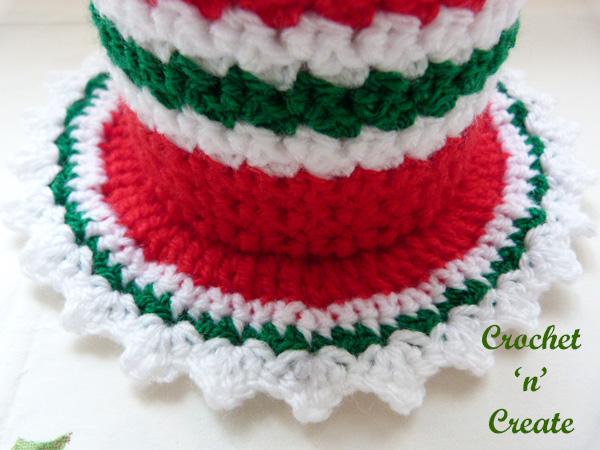 Free crochet christmas coaster mug cosy pattern