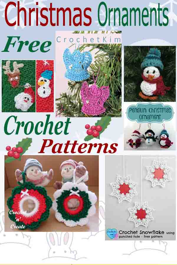 Free crochet pattern roundup christmas ornaments