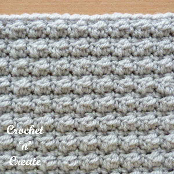 Even berry stitch free crochet stitch tutorial