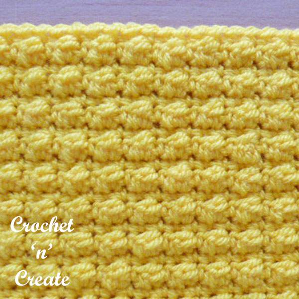 Even berry stitch crochet stitch tutorial