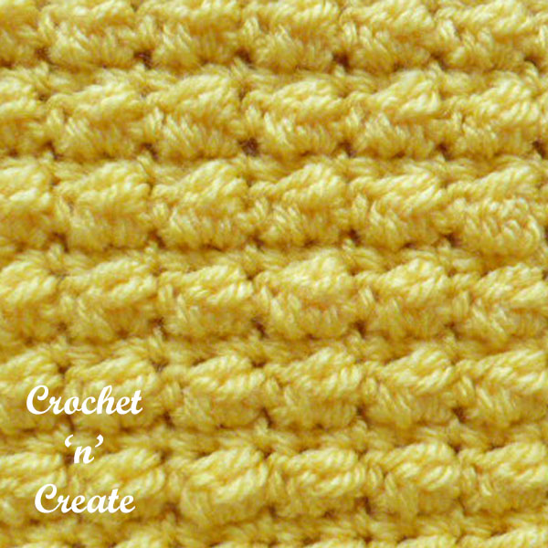 Crochet even berry stitch free stitch tutorial