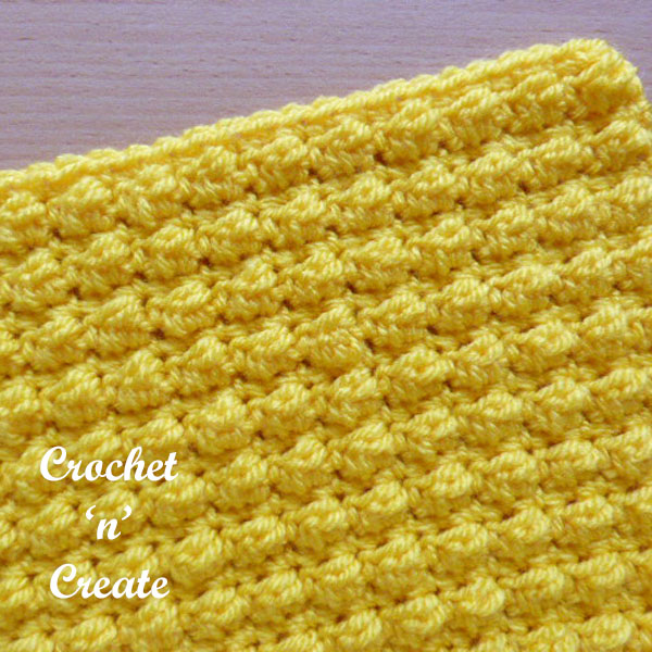 Free even berry stitch crochet tutorial