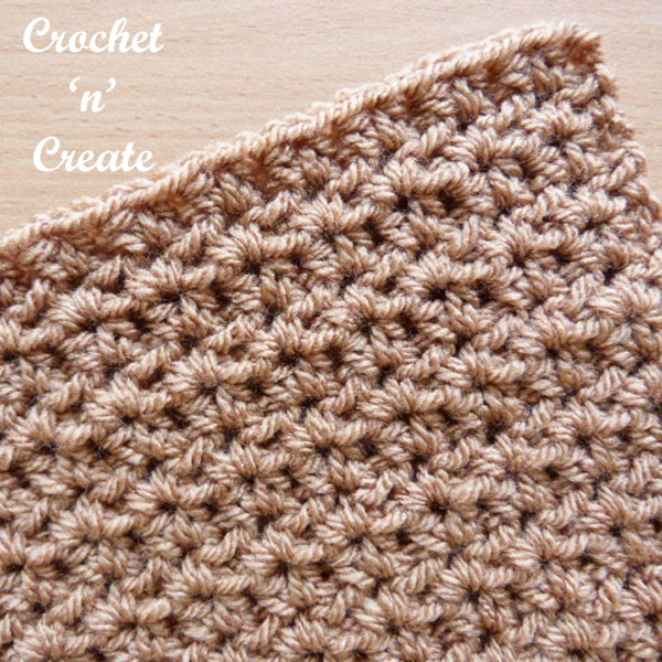 half dc v stitch free crochet tutorial