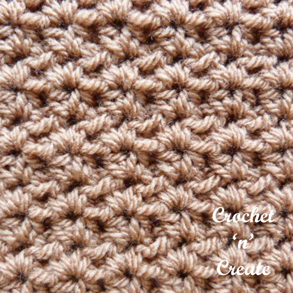 Crochet half dc v stitch tutorial