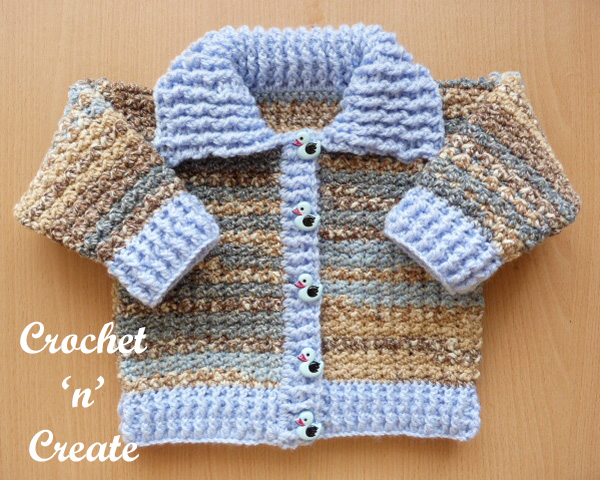 Free crochet baby cardigan with collar uk pattern