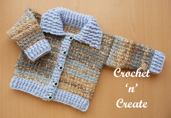 Baby cardigan with collar uk free baby crochet pattern