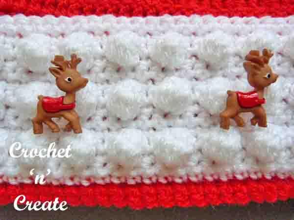Santa hat brim free crochet pattern