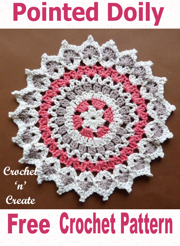 Free crochet pattern pointed doily