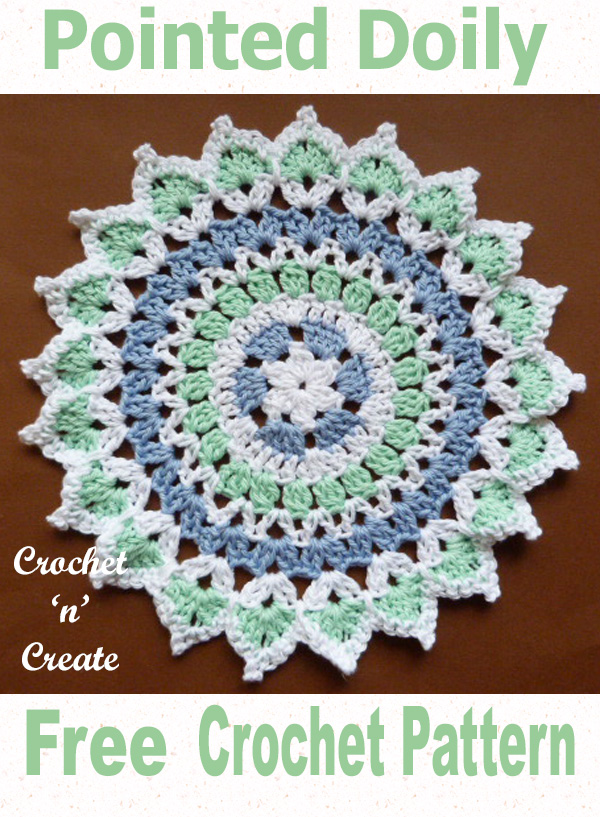 Pointed doily uk free crochet pattern