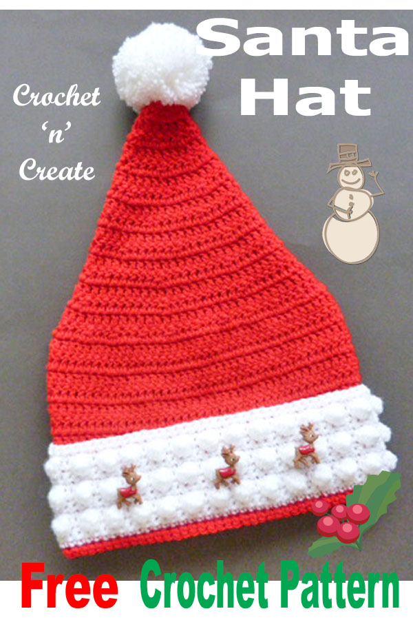 Santa hat uk free crochet pattern