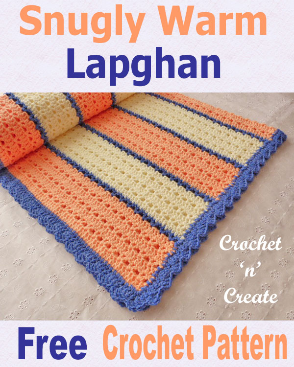 Free crochet pattern snugly warm lapghan uk