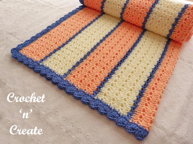 Free snugly warm lapghan crochet pattern