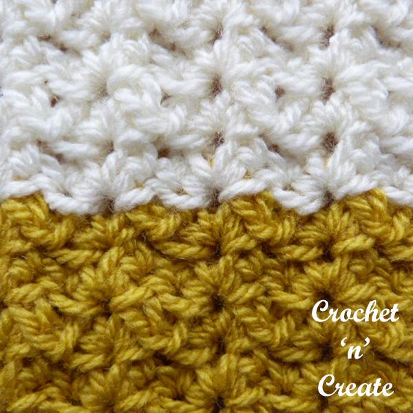 Sprig stitch free crochet stitch tutorial