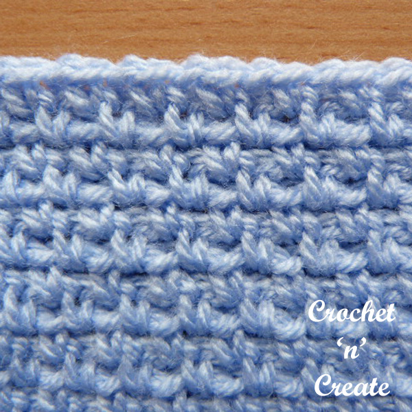 Free crochet stitch tutorial-woven stitch