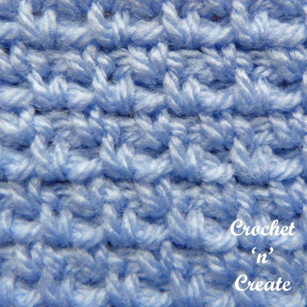 Free crochet woven stitch tutorial
