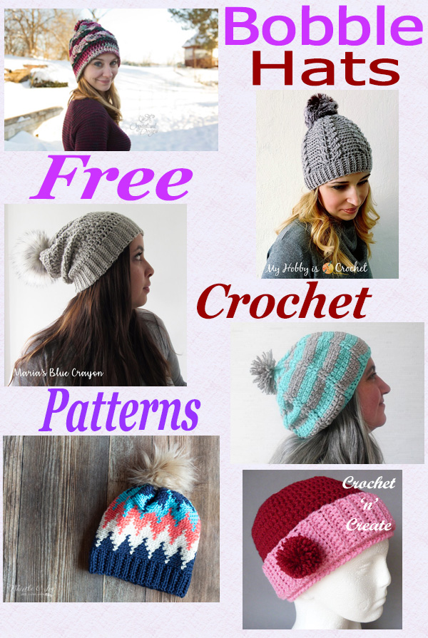 Free crochet pattern roundup bobble hats