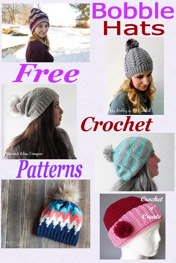 Free crochet pattern roundup bobble hats