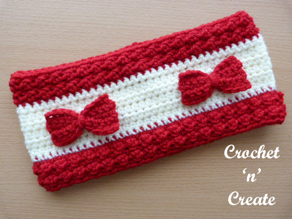 bumpy ear warmer uk free crochet pattern