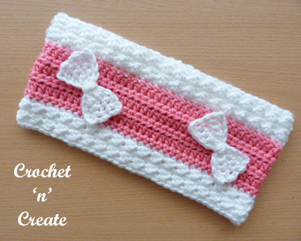 Bumpy ear warmer free crochet pattern