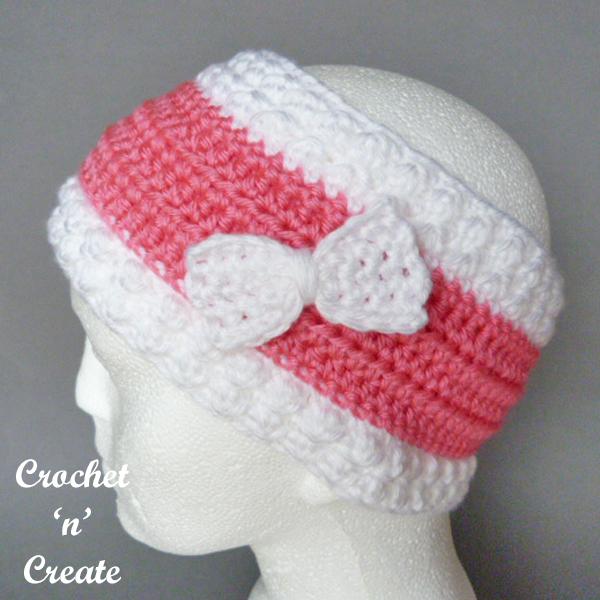 Free crochet pattern bumpy ear warmer