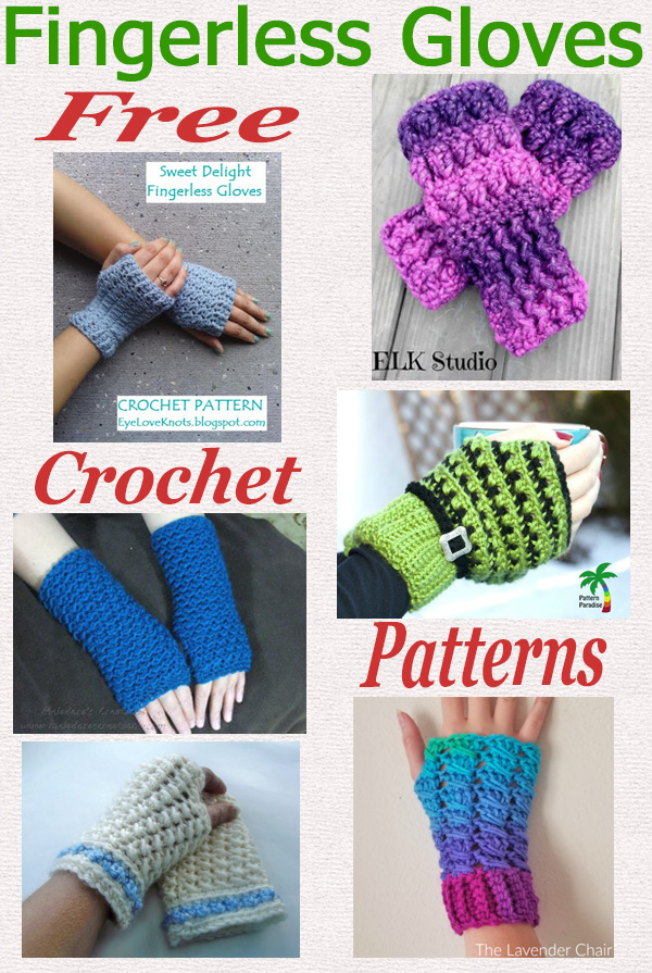 Free crochet pattern roundup fingerless gloves