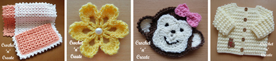 Applique free crochet patterns