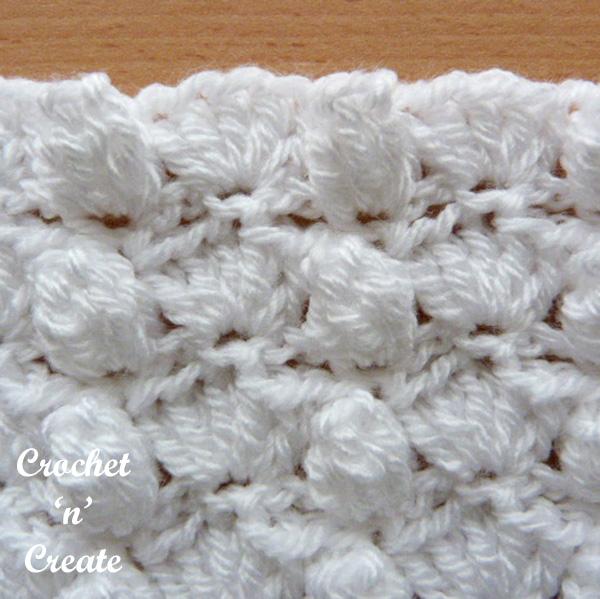 Free crochet stitch tutorial groups-popcorns
