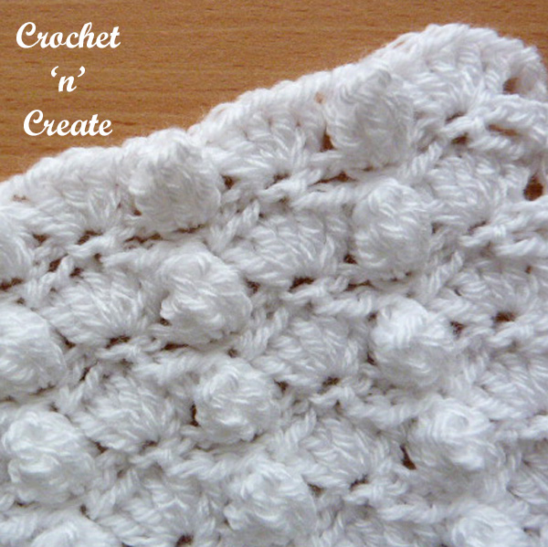 crochet groups and popcorns stitch tutorial