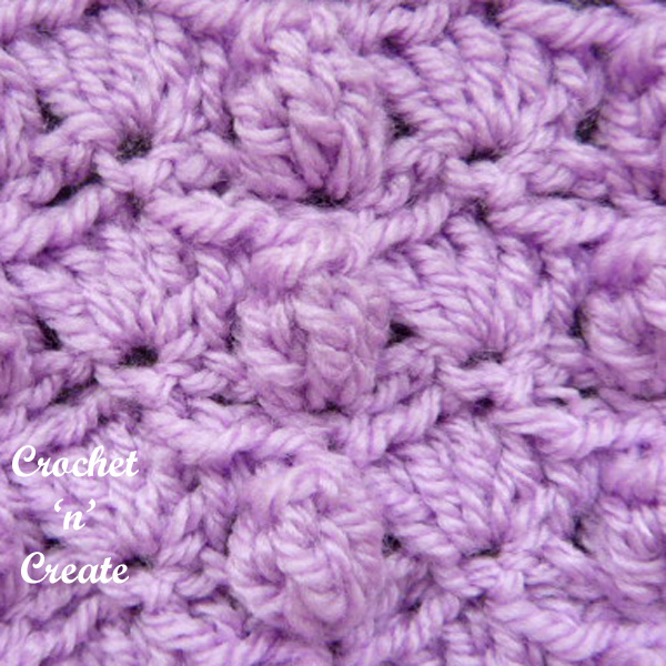 Crochet groups and popcorns tutorial