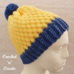 Honeycomb beanie free crochet pattern