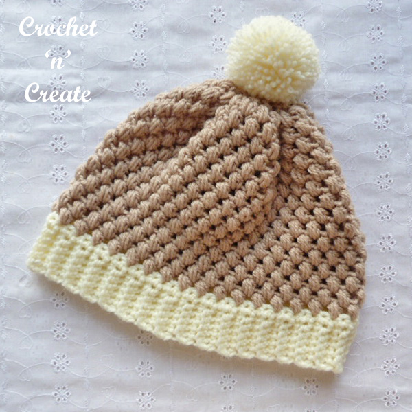 honeycomb beanie uk crochet pattern