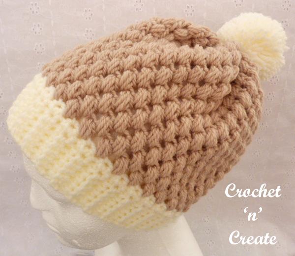 Crochet honeycomb beanie uk pattern