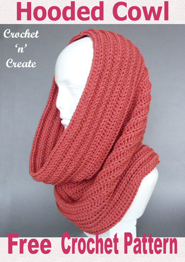 Hooded cowl free crochet pattern