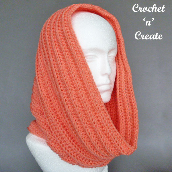 Ribbed Hooded Cowl Free Crochet Pattern UK - Crochet 'n' Create