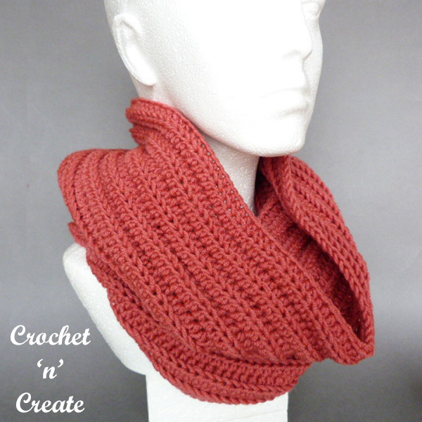crochet ribbed hooded cowl pattern