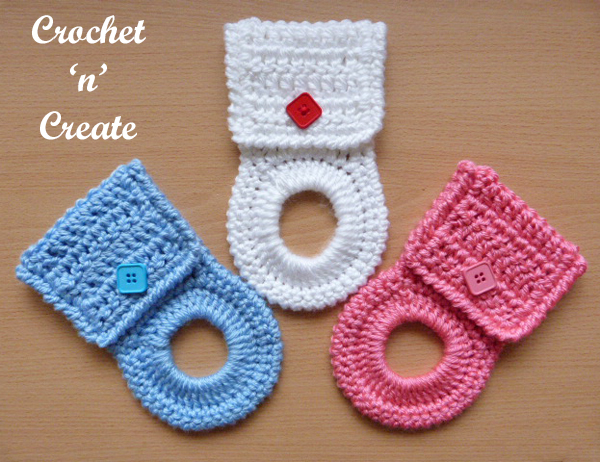 Kitchen towel holder free crochet pattern
