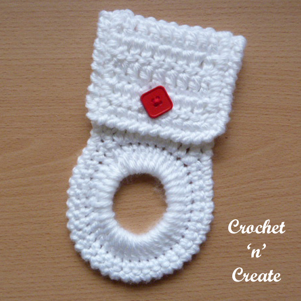 Free crochet pattern kitchen towel holder