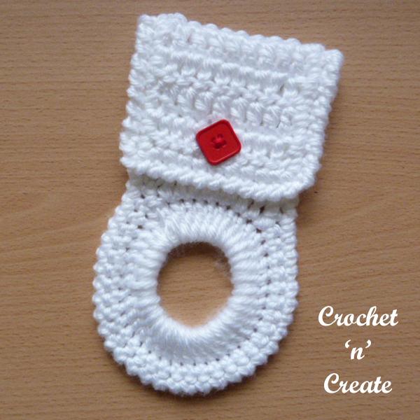 Free crochet pattern kitchen towel holder