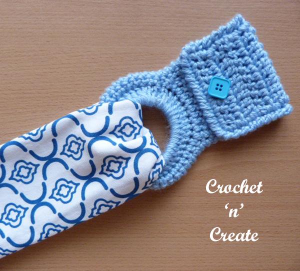 Free kitchen towel holder crochet pattern