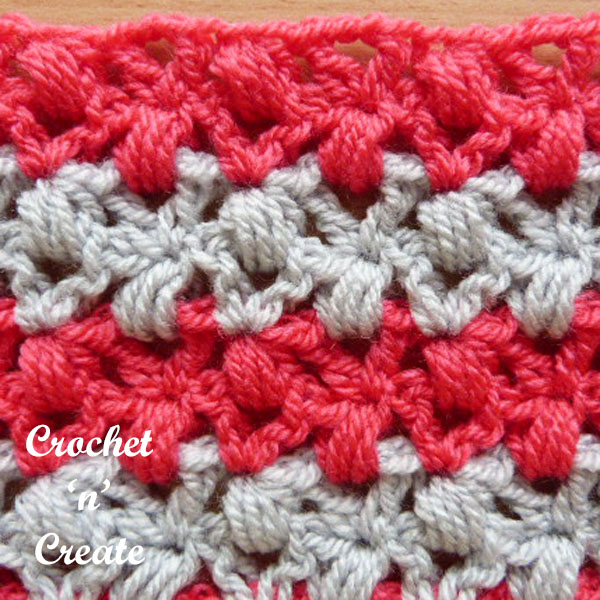v-stitch puffs crochet tutorial
