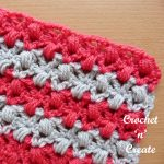 Free crochet stitch tutorial v-stitch clusters