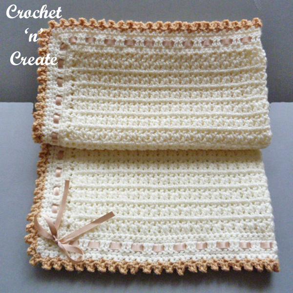 Free crochet patter pram-crib cover
